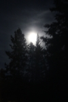 Blue moon over Whitehorse